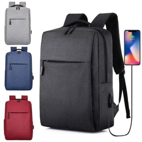 Foto Produk BP34 Tas Ransel Korean Lifestyle Casual Laptop Backpack - Abu-abu dari yaxiya666
