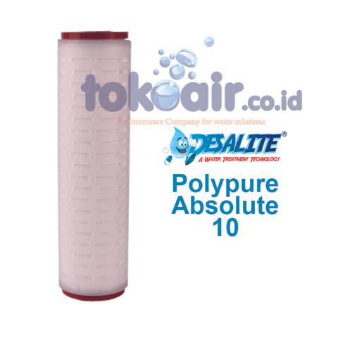 """Foto Produk Cartridge Pleated Absolute 10"""" inch Desalite dari Toko Filter Airindo"""
