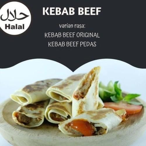 Foto Produk HOMEMADE KEBAB BEEF MINI ORIGINAL / PEDAS / KEJU (10 pcs) - ORIGINAL dari Keysskitchen