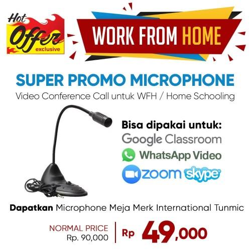 Foto Produk Mic Computer Tunmic TN-18D - Microphone Flexible Desktop dari Unitech Official