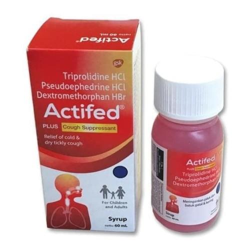 Foto Produk ACTIFED MERAH PLUS COUGH SUPPRESSANT SYRUP 60ML dari vitaminmurahcom