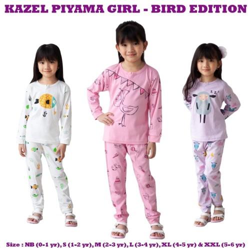 Foto Produk Kazel - Piyama Girl BIRD Edition - NEWBORN dari Chubby Baby Shop