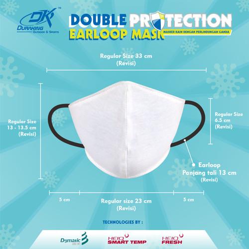 Foto Produk Masker Kain Anti Virus DK DOUBLE PROTECTION EARLOOP MASK - isi 3 pcs - REGULAR dari Duraking Outdoor&Sports
