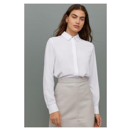 Foto Produk H&M Long Sleeve Blouse - HMT34 size 8 - Blouse Putih - 8 dari Velvet Room Branded Shop