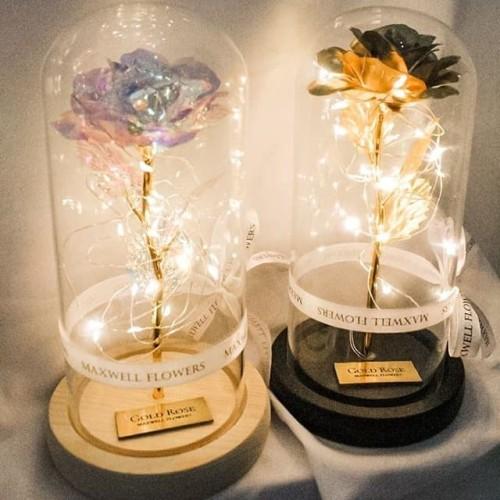 Foto Produk BUNGA DOME LAPIS EMAS 18K GOLD PLATTED ROSE DOME dari Maxwell Flowers