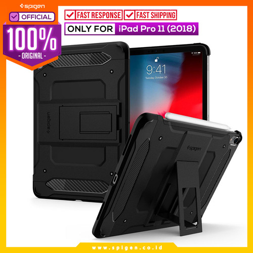 Foto Produk iPad Pro 11 2018 Case Spigen Anti Shock Tough Armor TECH Casing - Black dari Spigen Official