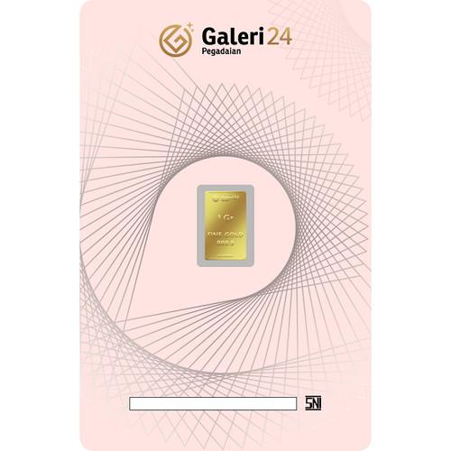 Foto Produk Logam Mulia Galeri 24 - 1 gr dari Galeri 24 by Pegadaian