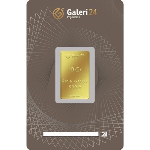 Foto Produk Logam Mulia Galeri 24 - 10 gr dari Galeri 24 by Pegadaian