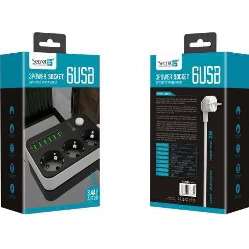 Foto Produk Power socket plug euro 3 usb port dari BBTronik