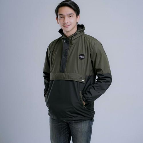 Foto Produk Jaket Pria Parasut Cagoule Kombinasi - abu hitam, L dari and_store22