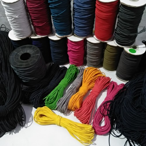 Foto Produk tali elastis 3 mm per roll 25 meter tali string cord bulat karet dari ravindra gear
