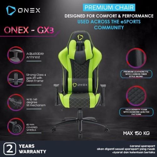 Foto Produk ONEX GX3 Premium Quality Gaming Chair Kursi - Hijau dari ONEX INDONESIA