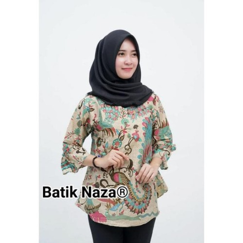 Foto Produk Blouse Batik Wanita Naza Modern Merak Papua Terjamin dari RifkyArdian