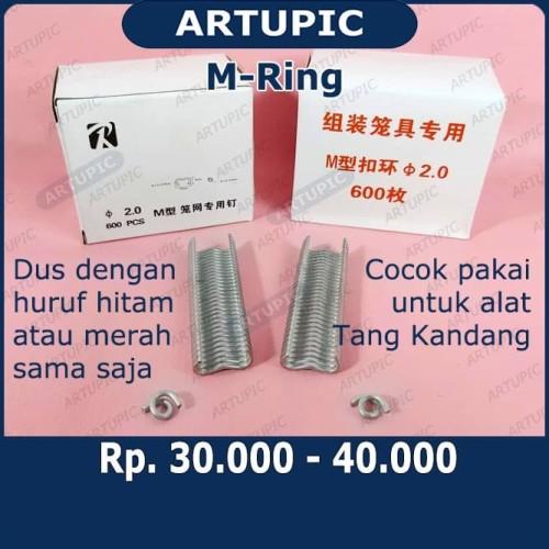 Foto Produk M-Ring C-Ring isi staples untuk tang kandang ayam puyuh kelinci dari ArtupicPeralatanPeternak