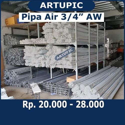 Foto Produk Pipa Pralon Paralon Air 3 per 4 inch PVC AW Putih dari ArtupicPeralatanPeternak