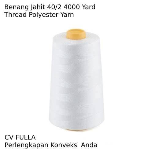 Foto Produk Benang Jahit Polos 4000 yard - Hitam dari CV FULLA