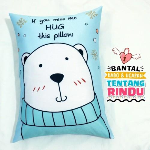 Foto Produk Bantal Kado & Hadiah Romantis Tema Hug Me 2 - 30x40cm - Ready - NO PO dari rumah bantal 123