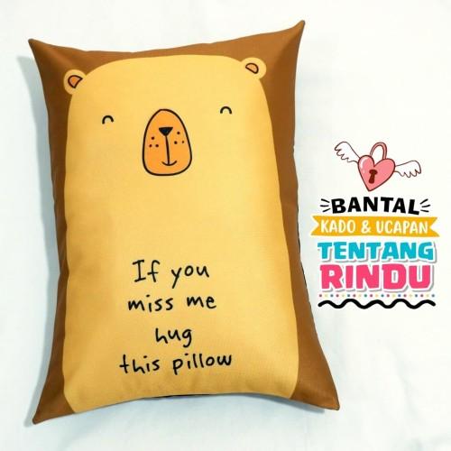Foto Produk Bantal Kado & Hadiah Romantis Tema Hug Me 30x40cm - Ready - NO PO dari rumah bantal 123