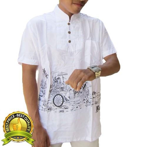 Foto Produk Baju koko lengan pendek motif kereta kuda XL - S dari Jnanacrafts