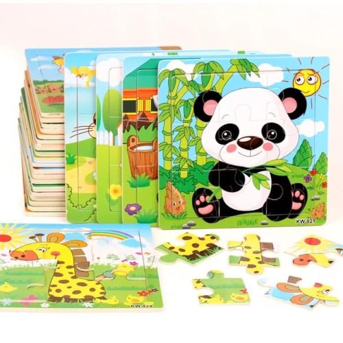 Foto Produk Mainan Edukasi Anak PUZZLE JIGSAW FOR FIRST STEP ONE - Animal dari lovely kayy