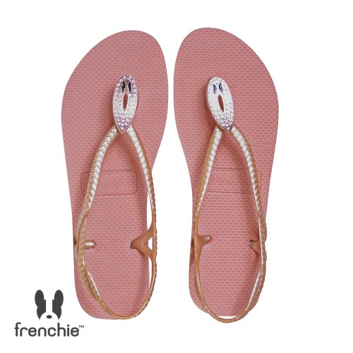 Foto Produk Sandal Wanita Frenchie SNAKE CRYSTAL / ROSE GOLD SSC01 - 38 dari FRENCHIEWAY