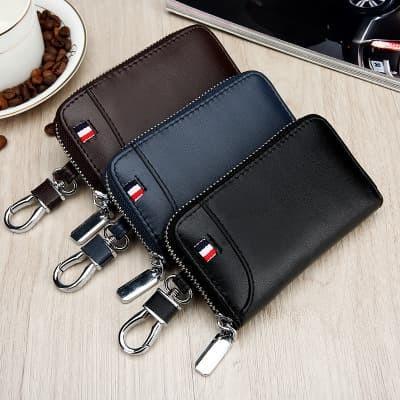 Foto Produk dompet gantungan kunci mobil motor car key bag kulit - Hitam dari Mall sumo