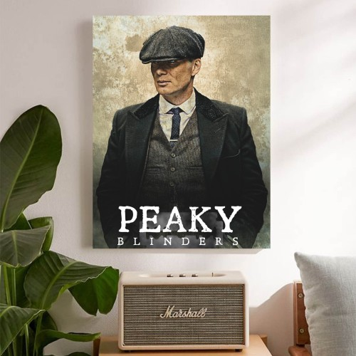 """Foto Produk """"Peaky Blinders, ver.2"""" Poster Kayu (30x22) dari Arkham Inc"""