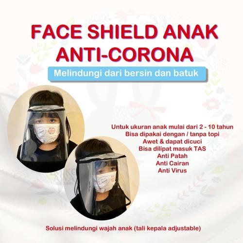 Foto Produk Pelindung Wajah Anak - Emikoawa Face Shield Visor Corona dari emikoawa
