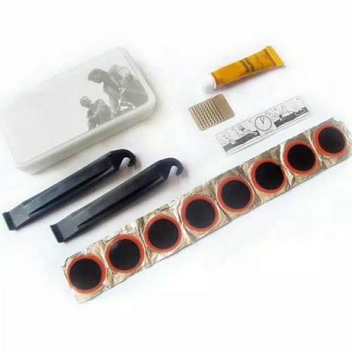 Foto Produk Cungkilan ban + alat tambalan ban Sepeda + rubber glue tambal karet dari Sekawan Sepeda