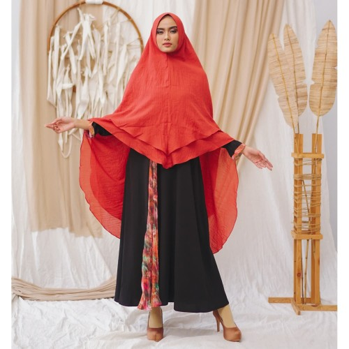 Foto Produk DBandanaira - Ghania Dress Muslim - Black Teracota, S dari DBandanaira_Official