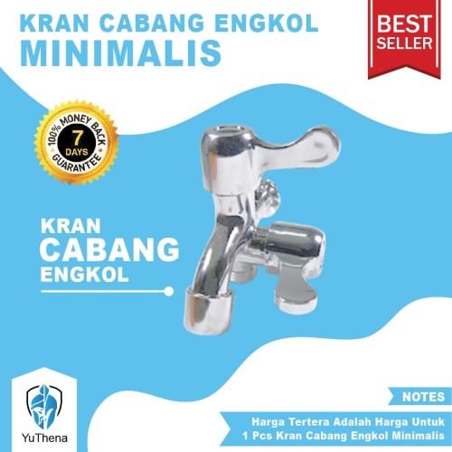 Foto Produk Kran Cabang Engkol Minimalis Murah - Keran Air Double Dua Shower Mandi dari YuThena Official Store