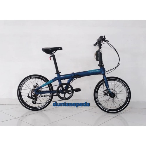 Foto Produk SEPEDA LIPAT / FOLDING BIKE 20 DAHON ION MADISON 7 SPEED MATTE BLUE. dari duniasepeda