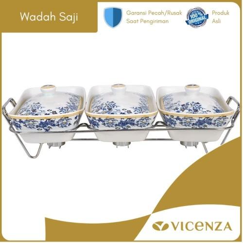 Foto Produk Vicenza Casserole With Rack - Wadah Saji Makanan Snack BA751 Ayana dari Vicenza Official