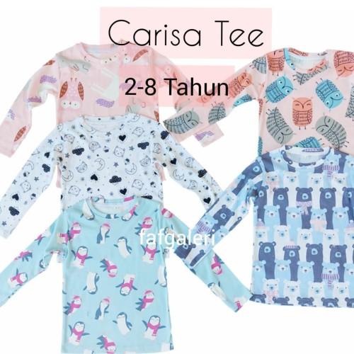 Foto Produk Carisa Tee 2-8 Thn Kaos Anak Perempuan Tangan Panjang Premium - Size 1 2-3 Thn dari FAF Galeri