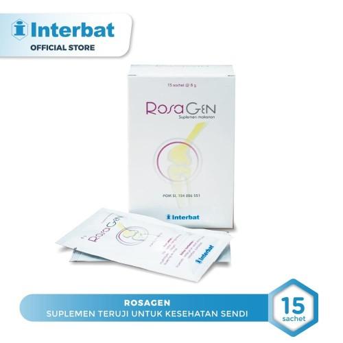 Foto Produk Rosagen Menjaga dan Mengobati Radang Sendi - 15 sachet @8 gr dari Interbat Consumer Health