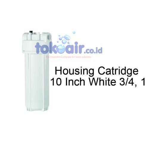 Foto Produk Housing Filter Catridge White 10 Inch size 3/4 inch, 1 inch dari Toko Filter Airindo