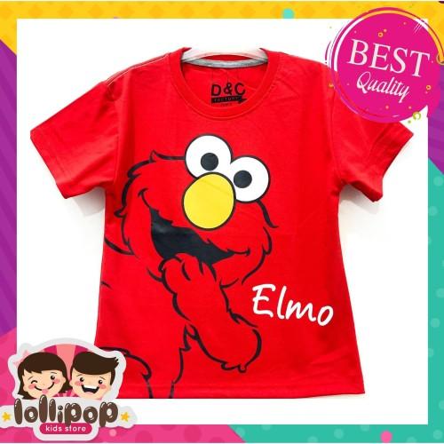 Foto Produk Kaos Anak Murah Lengan Pendek Lollipop Kids Store - Elmo Red - 1-2 Tahun dari Lollipop Kids Store