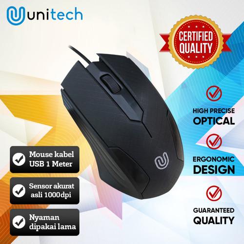 Foto Produk Optical Mouse G4 Unitech Wired Kabel USB 1000DPI - Hitam dari Unitech Official