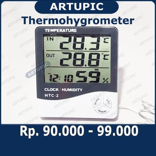 Foto Produk Thermohygrometer Temperatur Pengukur Suhu dan Kelembapan Udara Kandang dari ArtupicPeralatanPeternak