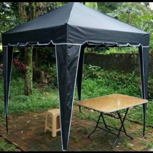 Foto Produk tenda cafe 2x2 fullset lengkap kak - Hitam dari toko tenda cafe