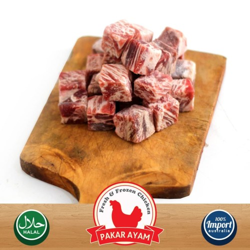 Foto Produk Daging Sapi Saikoro Beef Wagyu Cube Kemasan 1 Kg. Premium Quality dari Pakar Ayam