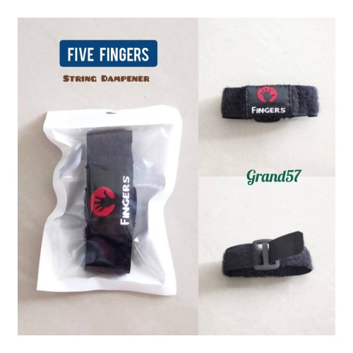 Foto Produk Five fingers string fretwrap damper strings fretwraps fret wrap black dari Grand57musicstore