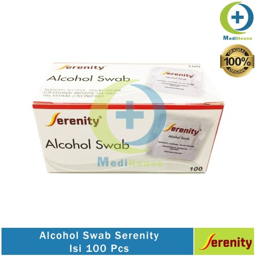 Foto Produk Alcohol Swab Serenity Isi 100 Alkohol Pad Tissue Alkohol Tisu dari medihouse