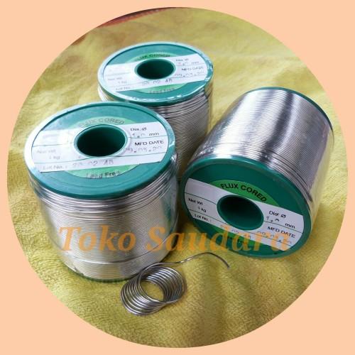 Foto Produk Timah solder Hi-Grade Lead-Free Sn:99,3% Cu:0,7%, 1mm, Tanpa Timbal dari Saudara Loudspeaker