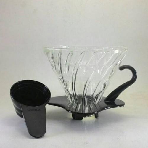 Foto Produk Hario V60 Glass Coffee Dripper 01 Black VDG-01B dari Kopi Jayakarta