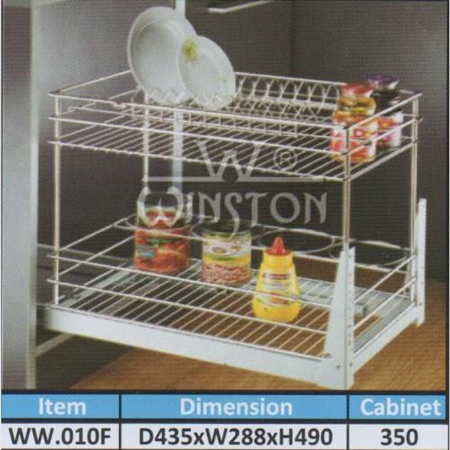 Foto Produk Rak Tarik Stainless Winston WW 010 F for Kitchen Set Kabinet dari WINSTON-OK OFFICIAL STORE