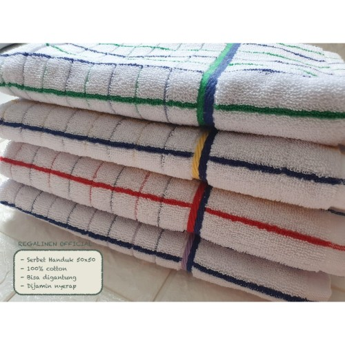Foto Produk PROMO Serbet Handuk Lap Tangan Gantung 50x50 Cotton Lap Dapur Eagle dari Regalinen Official