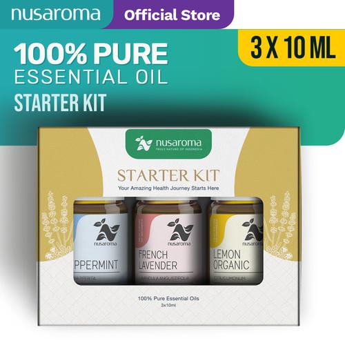 Foto Produk Nusaroma Starter Kits Essential Oil - Paket isi 3 x 10ML dari Nusaroma