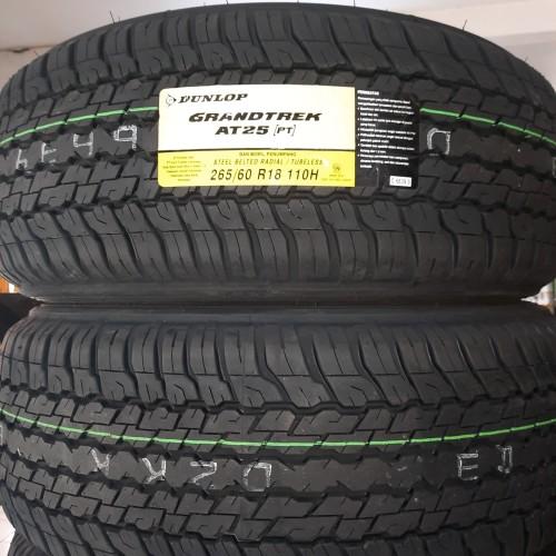 Foto Produk Ban Dunlop Grandtrek AT25 265/60/R18 New Pajero New Fortuner Baru dari Sentra Ban