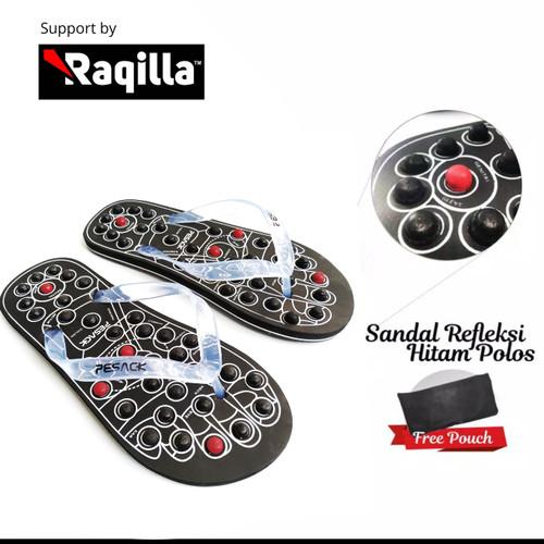 Foto Produk Sandal akupuntur / rematik / refleksi / terapi untuk kesehatan - Hitam, 41 dari Raqilla Shop Official